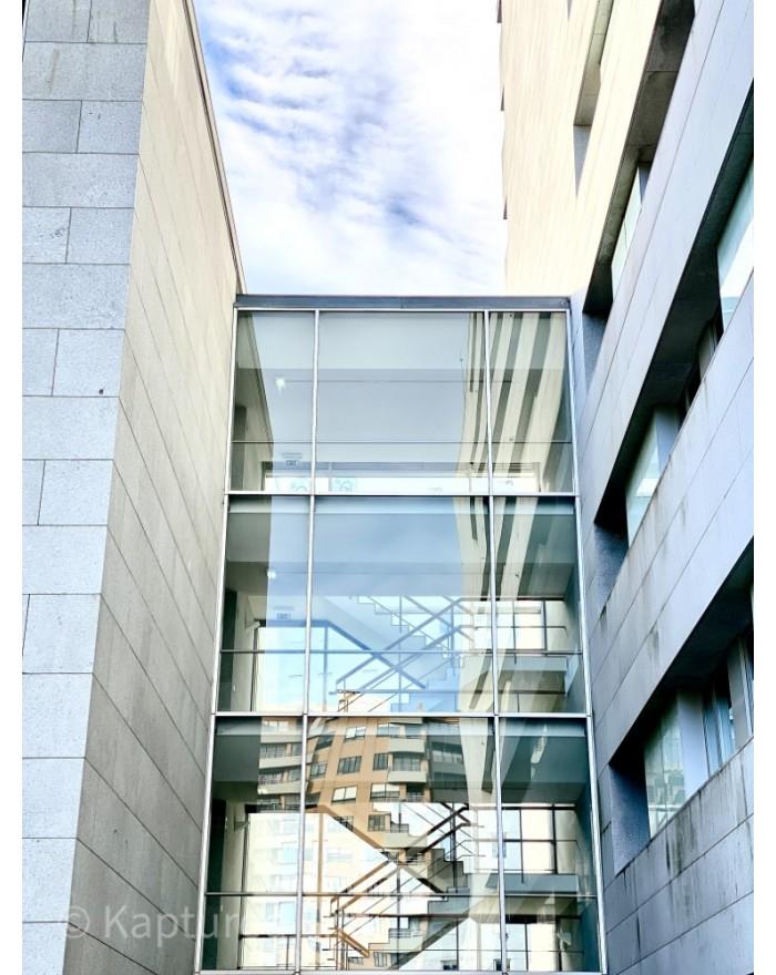 Glassy stairs