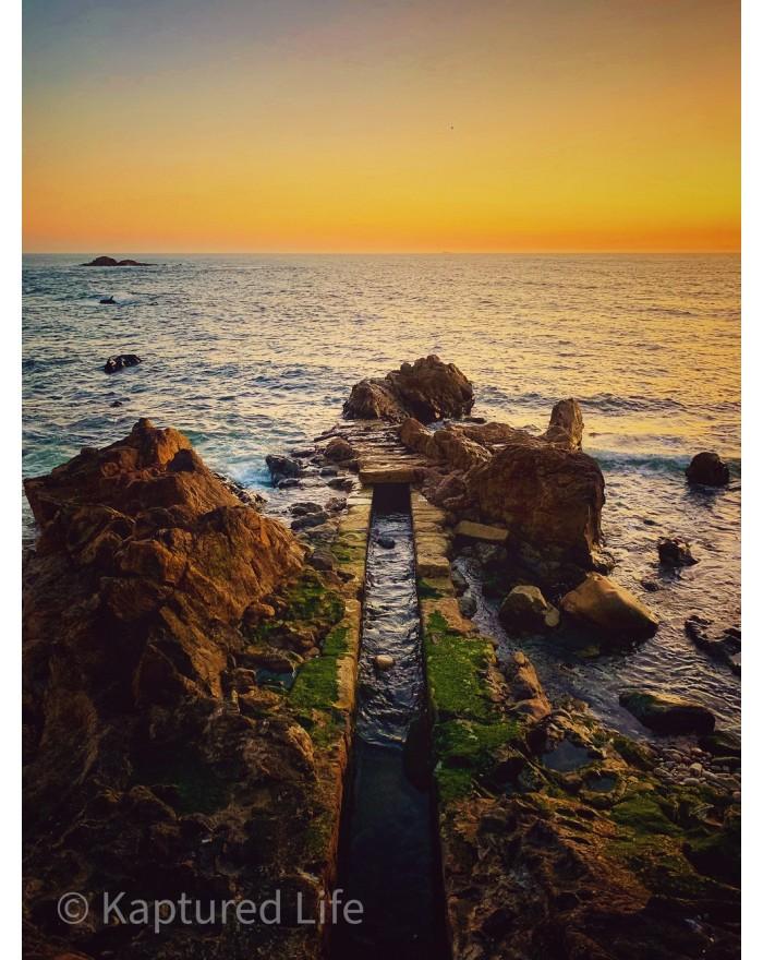When sun kisses the sea