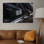 Wanna' Ride? 🧳  Enjoy your #diasec on the wall, ready to hang in your living room 👌 #kapturedlife #interiordecor #digitalphotography #digigraphie #readytohang #urban #urbanphotography #roomdecor #limitededition #fineartprints #museumquality #reflection #carphotography
